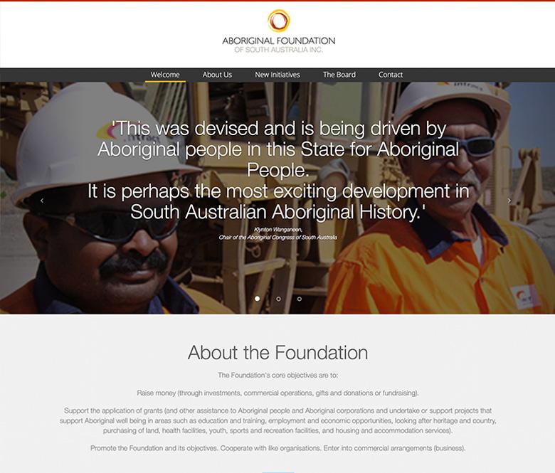 The Aboriginal Foundation website