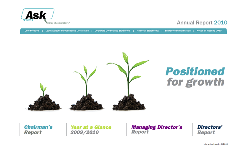 Ask Funding Annual Report 2010