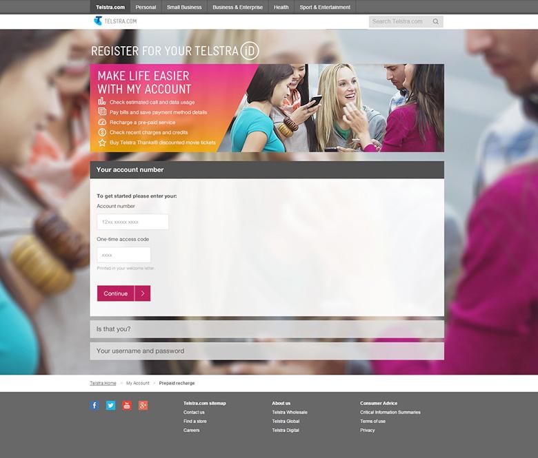 Telstra ID Auto Registration