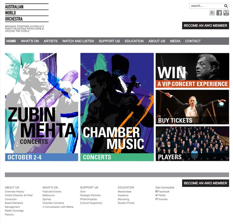 Australian World Orchestra Website