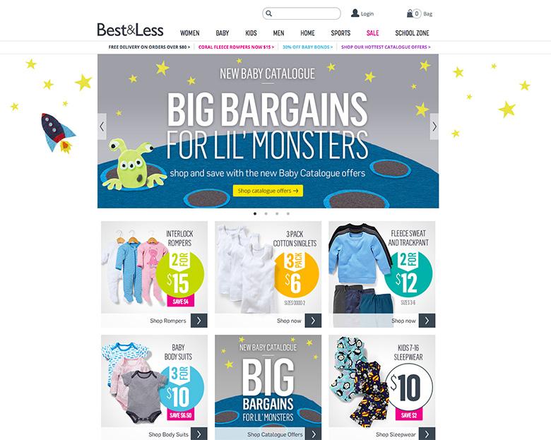 Best & Less E-commerce site