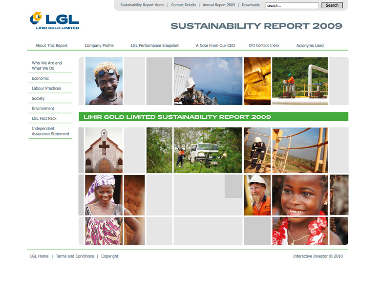 Lihir Gold Sustainability Report 2009