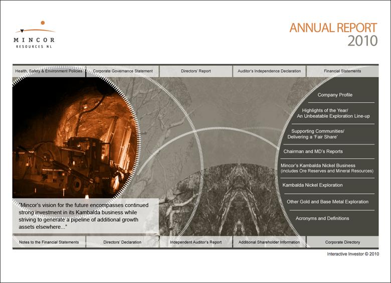 Mincor Annual Report 2010