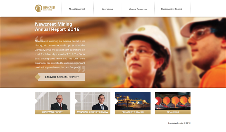 Newcrest Mining Annual Report 2012
