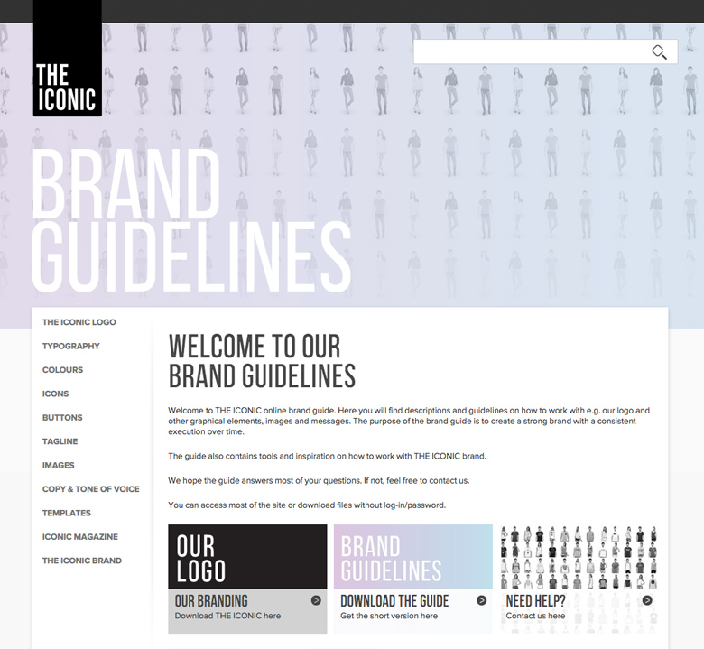 THE ICONIC Styleguide