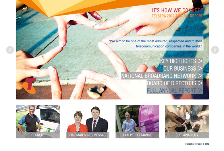 Telstra 2012 Annual Report