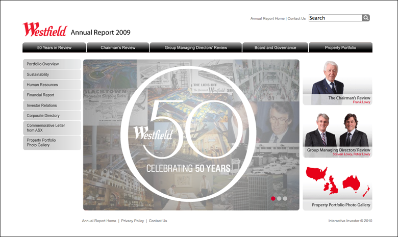 Westfield Annual Report 2009