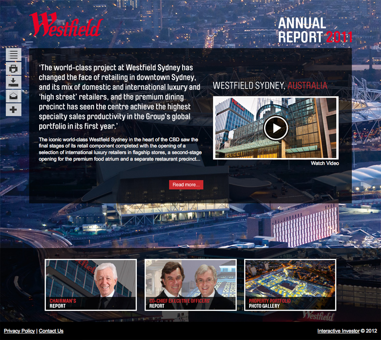 Westfield Annual Report 2011